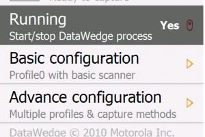 Cài DataWedge máy kiểm kho MC9190-G
