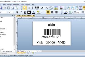 Kết nối Excel tới phần mềm thiết kế nhãn Bartender