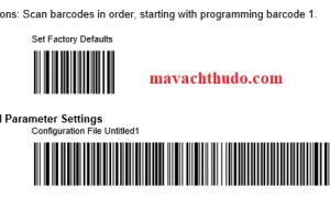 Reset máy đọc mã vạch Zebra DS9208