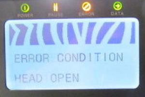Sửa lỗi Head Open máy in ZM400 ZM600