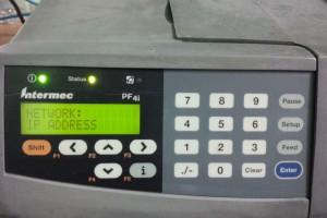 Sét IP tĩnh máy in Intermec PF4i