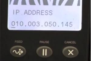 ZM400 ZM600: Đặt địa chỉ IP tĩnh