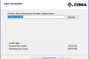 Cấu hình Serial COM máy in mã vạch Zebra
