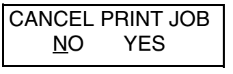 cancel print job cl608e